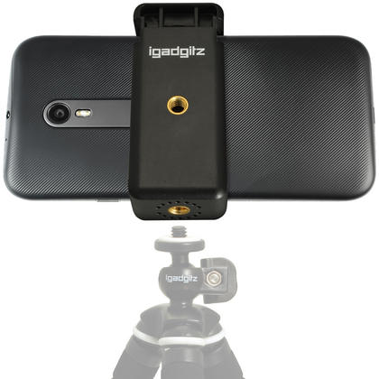 iGadgitz Universal Smartphone Holder Mount Bracket Adapter for Tripods and Selfie Sticks Thumbnail 11