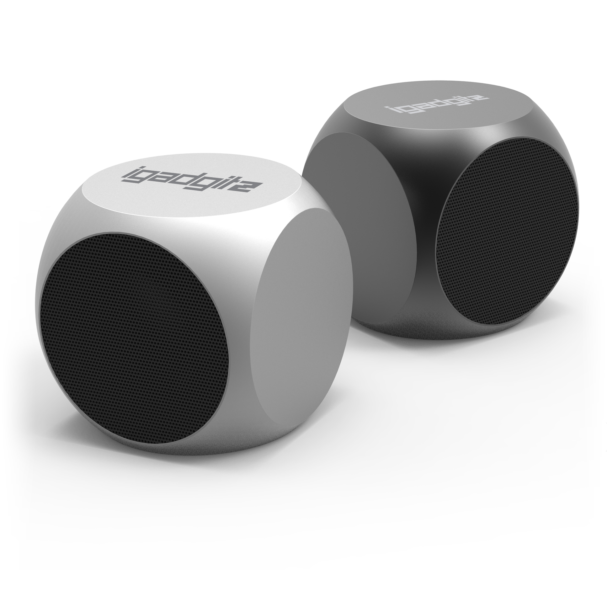 iGadgitz Al Series: 'The Cube' Portable Wireless Stereo Bluetooth 3.0 Aluminium Travel Speaker (3W Power with Rich Bass)