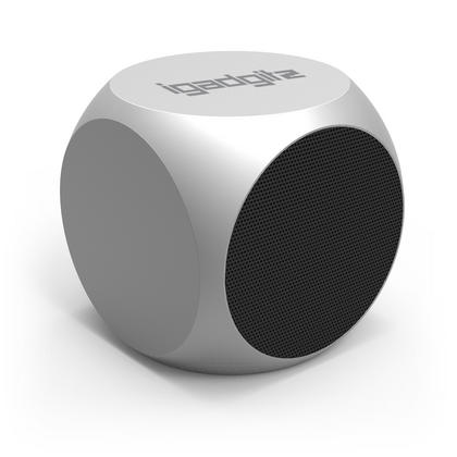 iGadgitz Al Series: 'The Cube' Portable Wireless Stereo Bluetooth 3.0 Aluminium Travel Speaker (3W Power with Rich Bass) Thumbnail 2