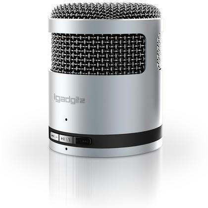 iGadgitz Al Series: 'Mic Idol' Portable Wireless Stereo Bluetooth 3.0 Aluminium Travel Speaker (3W Power with Rich Bass) Thumbnail 2