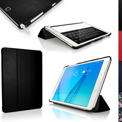 """iGadgitz PU Leather Smart Cover Case for Samsung Galaxy Tab A 9.7"""" SM-T550 + Stand, Sleep Wake + Screen Protector Thumbnail 1"""