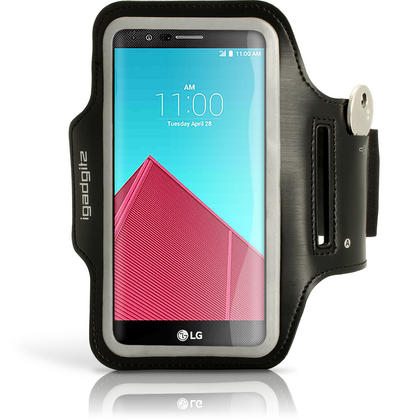 iGadgitz Reflective Sports Jogging Gym Armband for LG G4 H815 with Key Slot Thumbnail 1