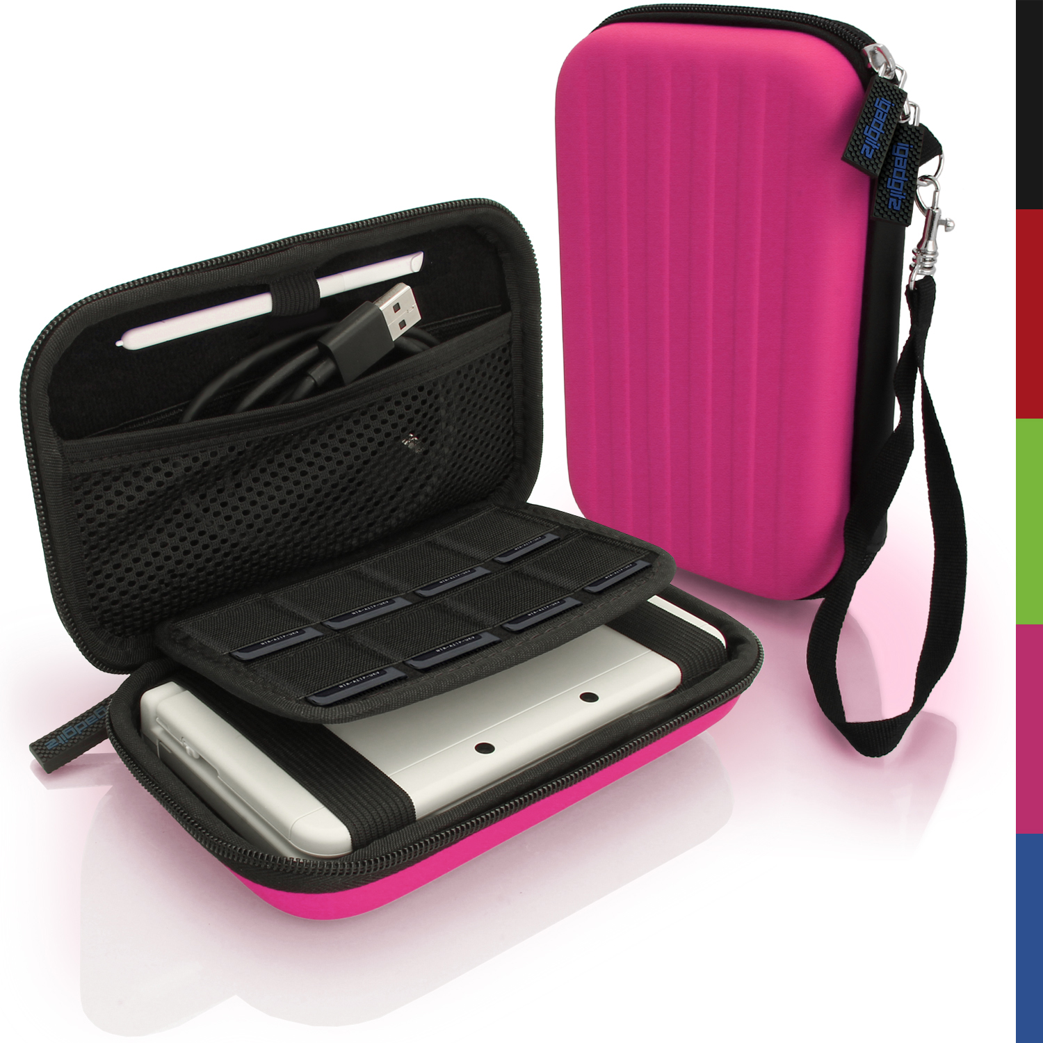 Pink hard case cover for new nintendo 3ds xl 3dsxl 2ds xl for Housse nintendo 2ds xl