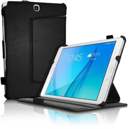"iGadgitz PU Leather Case Cover for Samsung Galaxy Tab A 9.7"" SM-T550 Stand + Sleep Wake + Hand Strap + Screen Protector Thumbnail 2"