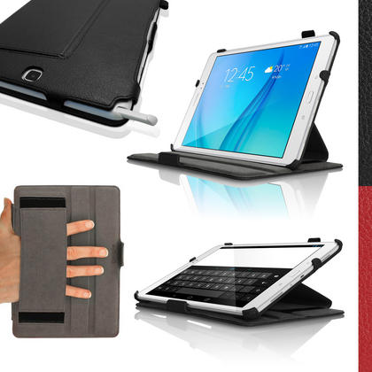 "iGadgitz PU Leather Case Cover for Samsung Galaxy Tab A 9.7"" SM-T550 Stand + Sleep Wake + Hand Strap + Screen Protector Thumbnail 1"