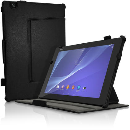 iGadgitz PU Leather Case Cover for Sony Z4 Tablet SGP712 SGP771 With Sleep Wake + Hand Strap + Screen Protector Thumbnail 2