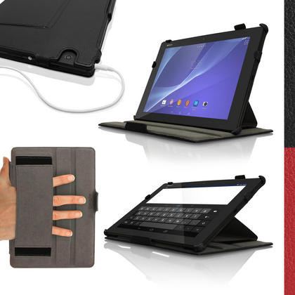 iGadgitz PU Leather Case Cover for Sony Z4 Tablet SGP712 SGP771 With Sleep Wake + Hand Strap + Screen Protector Thumbnail 1