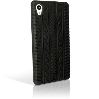 iGadgitz Black Tyre Tread Silicone Rubber Gel Skin Case Cover for Sony Xperia M4 Aqua E2303 + Screen Protector Thumbnail 6