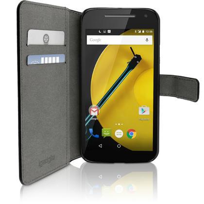 iGadgitz Wallet Flip PU Leather Case Cover for Motorola Moto E 2nd Generation 2015 XT1524 + Card Slots Screen Protector Thumbnail 2
