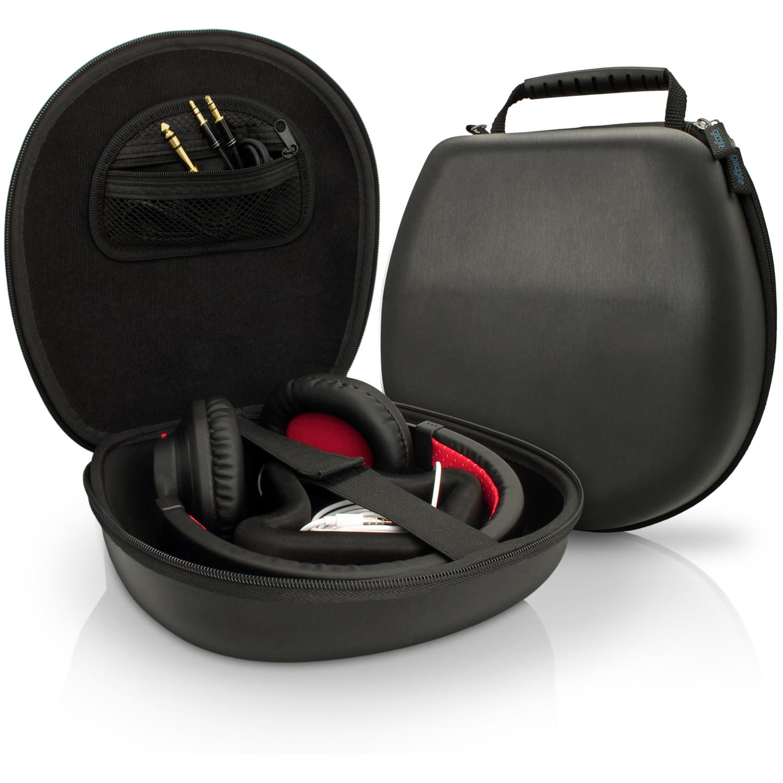 iGadgitz Black EVA Carrying Hard Case Cover for Headphones Headset (Sony, Philips, Pioneer, Marshall, Beats, Bose, etc)