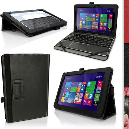 "iGadgitz PU Leather Folio Case Cover for Asus Transformer Book 10.1"" T100 CHI FG007B + Stand + Sleep Wake + Screen Prot Thumbnail 1"