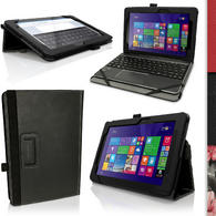 "iGadgitz PU Leather Folio Case Cover for Asus Transformer Book 10.1"" T100 CHI FG007B + Stand + Sleep Wake + Screen Prot"