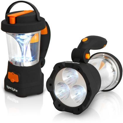 iGadgitz Xtra Lumin 4 in 1 Dynamo Rechargeable 3 LED Spotlight Torch & 10 LED Lantern + 1 Year Warranty Thumbnail 1