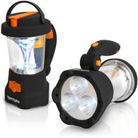 iGadgitz Xtra Lumin 4 in 1 Dynamo Rechargeable 3 LED Spotlight Torch & 10 LED Lantern + 1 Year Warranty
