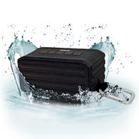 iGadgitz IGA-370 IPX4 7W Waterproof Portable Wireless Bluetooth 4.0 Travel Speaker with Carabineer Hanging Clip ? Black