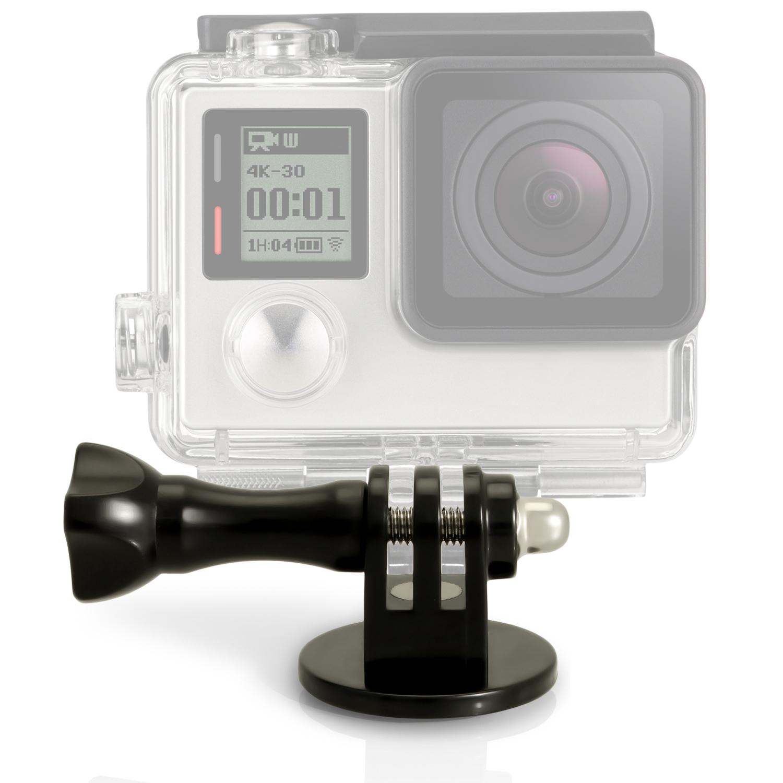 iGadgitz Tripod / Monopod / Selfie Stick Adaptor Mount  with Thumb Screw & Nut for GoPro Hero6 Black, Fusion, Hero5 Black, Hero5 Session, Hero4, Hero3+, Hero3, Hero2, Hero1, Hero Session
