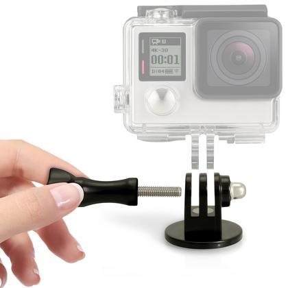 iGadgitz Tripod / Monopod / Selfie Stick Adaptor Mount  with Thumb Screw & Nut for GoPro Hero6 Black, Fusion, Hero5 Black, Hero5 Session, Hero4, Hero3+, Hero3, Hero2, Hero1, Hero Session Thumbnail 3