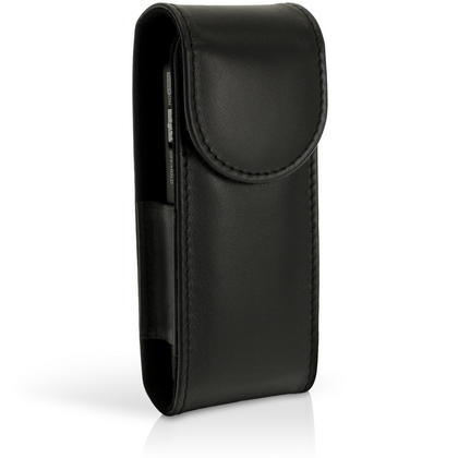 iGadgitz Black Genuine Leather Case Cover for Olympus VN-7200, VN-7700, VN-7800 Digital Voice Recorder Thumbnail 2