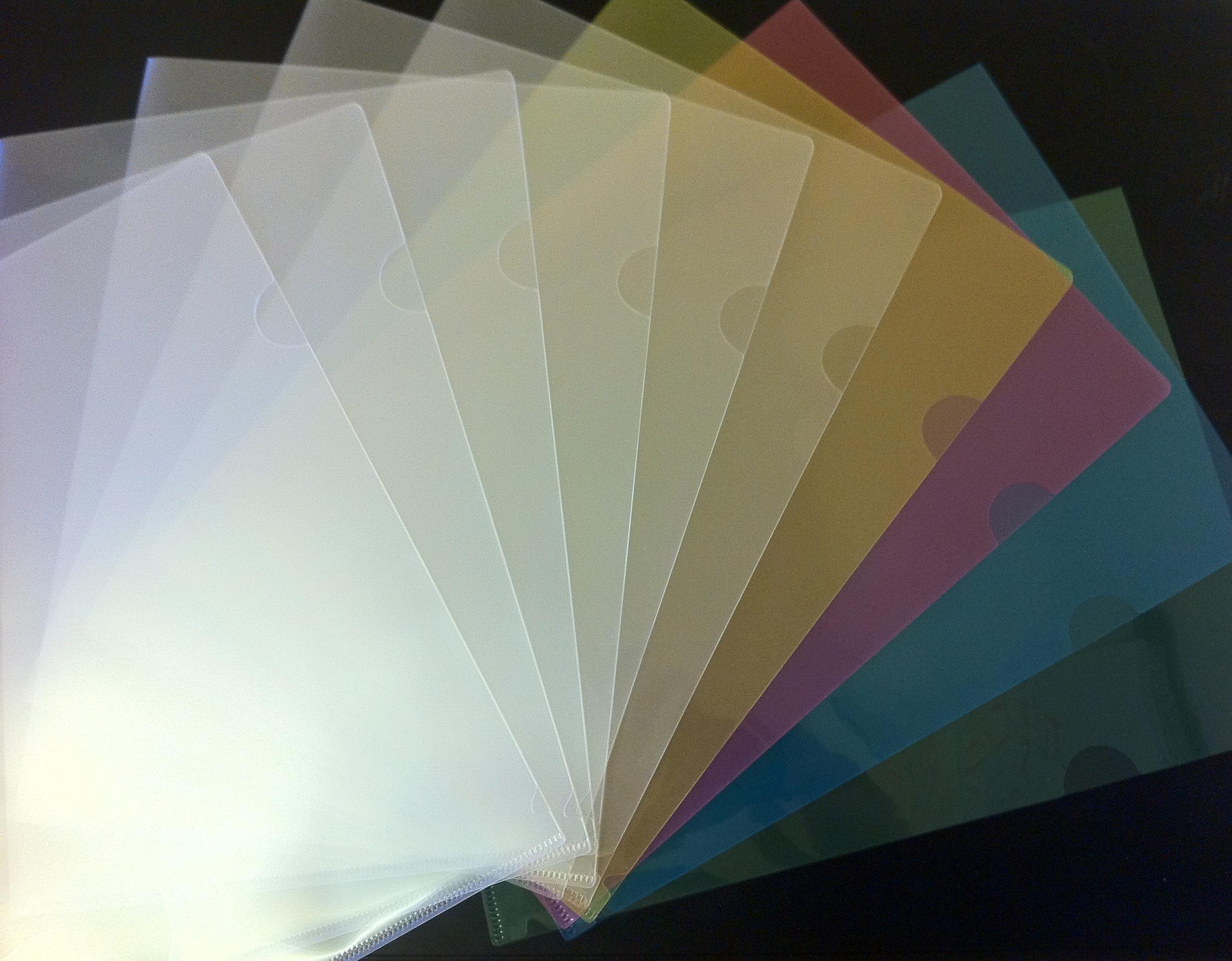 110 Colour A4 Plastic Document Holders Folders