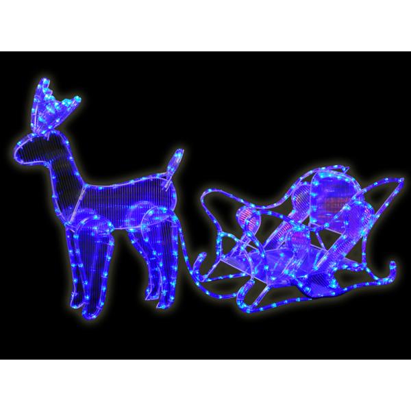 Reindeer sleigh christmas garden decoration large blue led rope reindeer sleigh christmas garden decoration large blue led rope light display aloadofball Choice Image