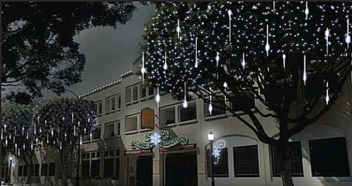 240 led snow shower icicle lights christmas outdoor decorations 240 led snow shower icicle lights christmas outdoor decorations meteor effect aloadofball Choice Image
