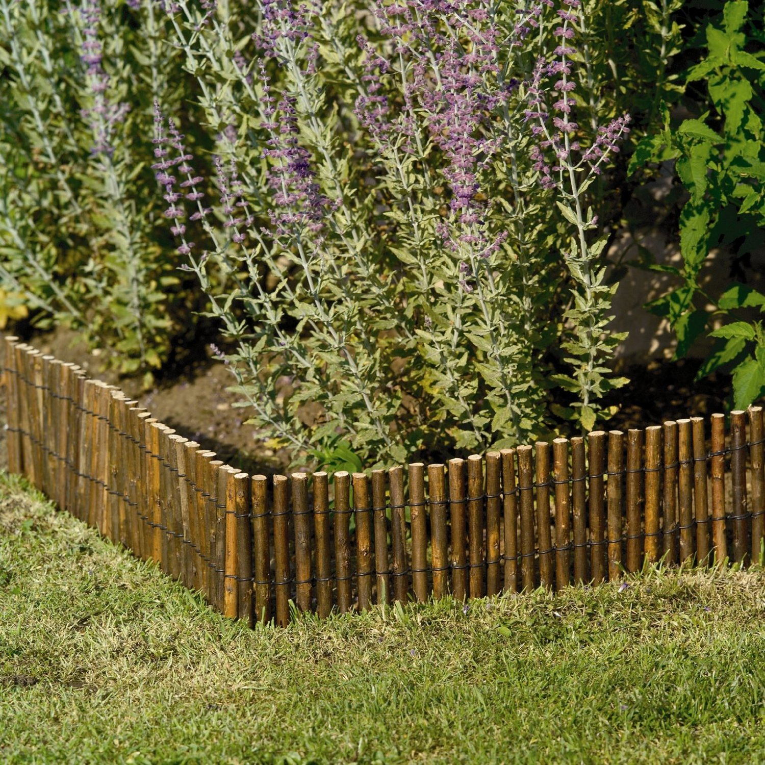 Willow lawn border edging 2m x 15cm flexible garden for Path and border edging
