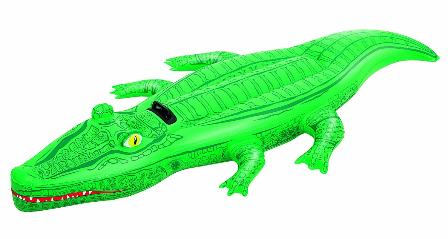 Awesome Green Crocodile/Aligator Inflatable Swimming Pool Ride/Toy