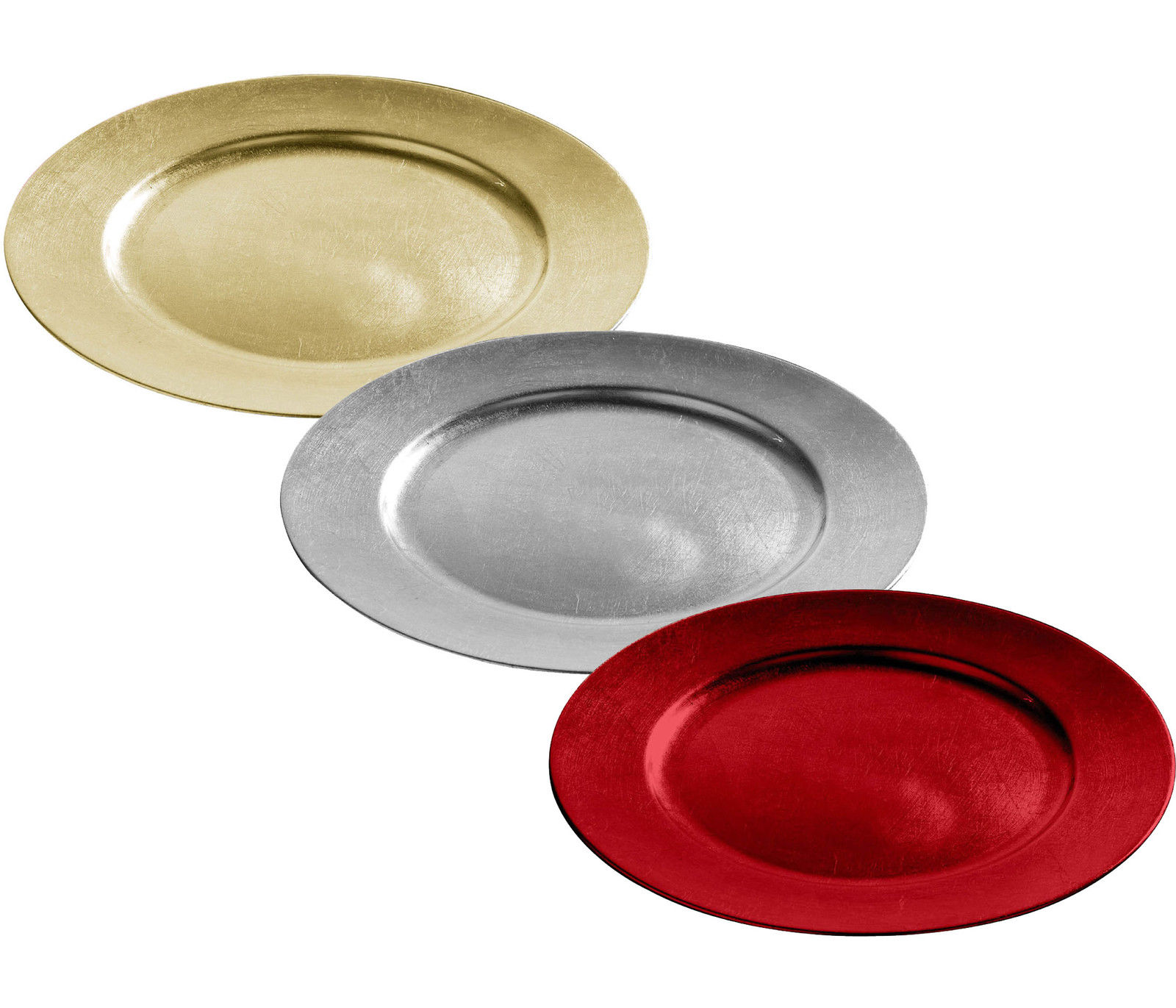 charger plates 33cm decorative christmas under dinner place mats gold silver red