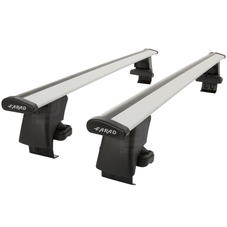 Farad Black Aluminium Wing Roof Bar Set to fit Nissan Qashqai J10 07-13 Non Rail