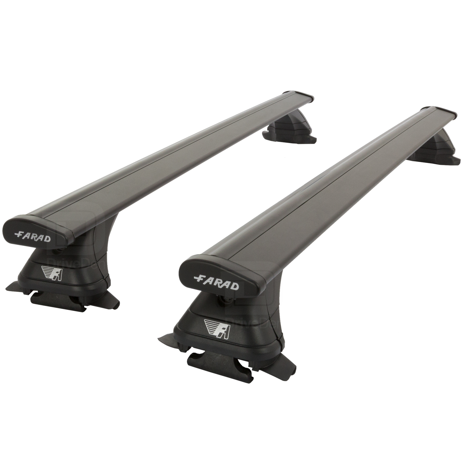 Farad Fa-Alu-455A Aero Aluminium Silver Roof Bar Set Closed Roof Rails