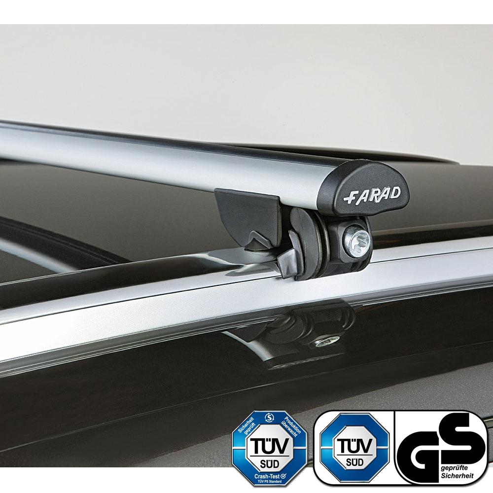 Farad Roof Bars Set fit Vauxhall Grandland X 17-18 Closed Rails Square Steel