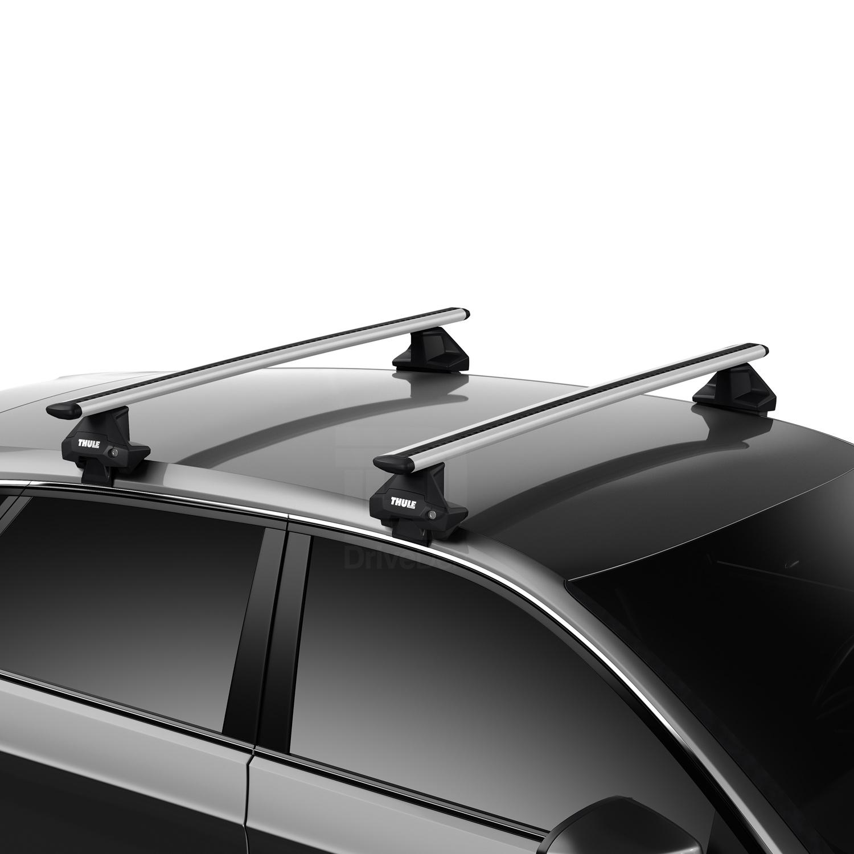 Thule Aluminium WingBar Evo Silver Roof Bars Set to fit Audi A5 Sportback 17-19