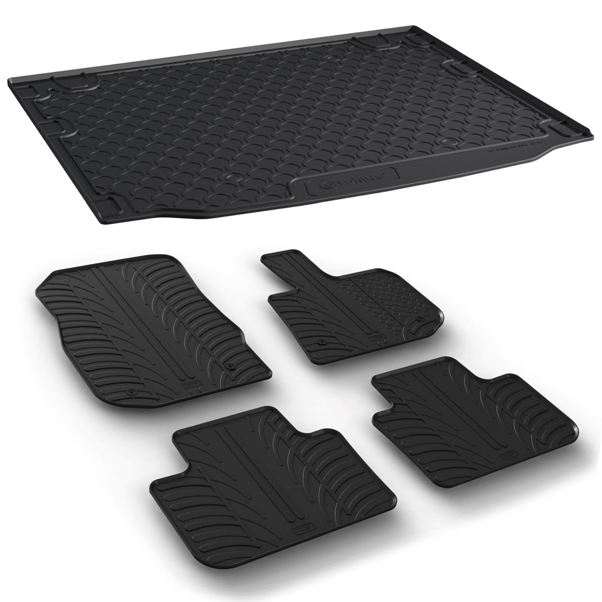 Gledring Tailored Rubber Floor Mats Set to fit BMW X3 G01 17-19 Moulded Fitted