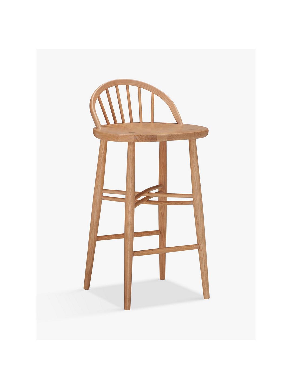 Ercol For John Lewis Shalstone Wooden Dining Bar Stool Oak Beech 2857185 Ebay