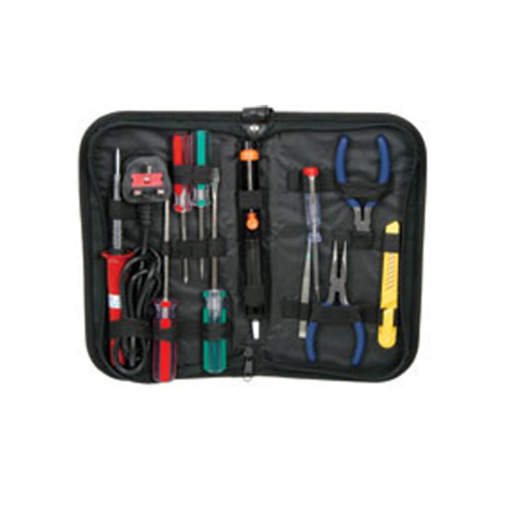 11 Piece Electronic Electrical Tool Kit Soldering Iron UK