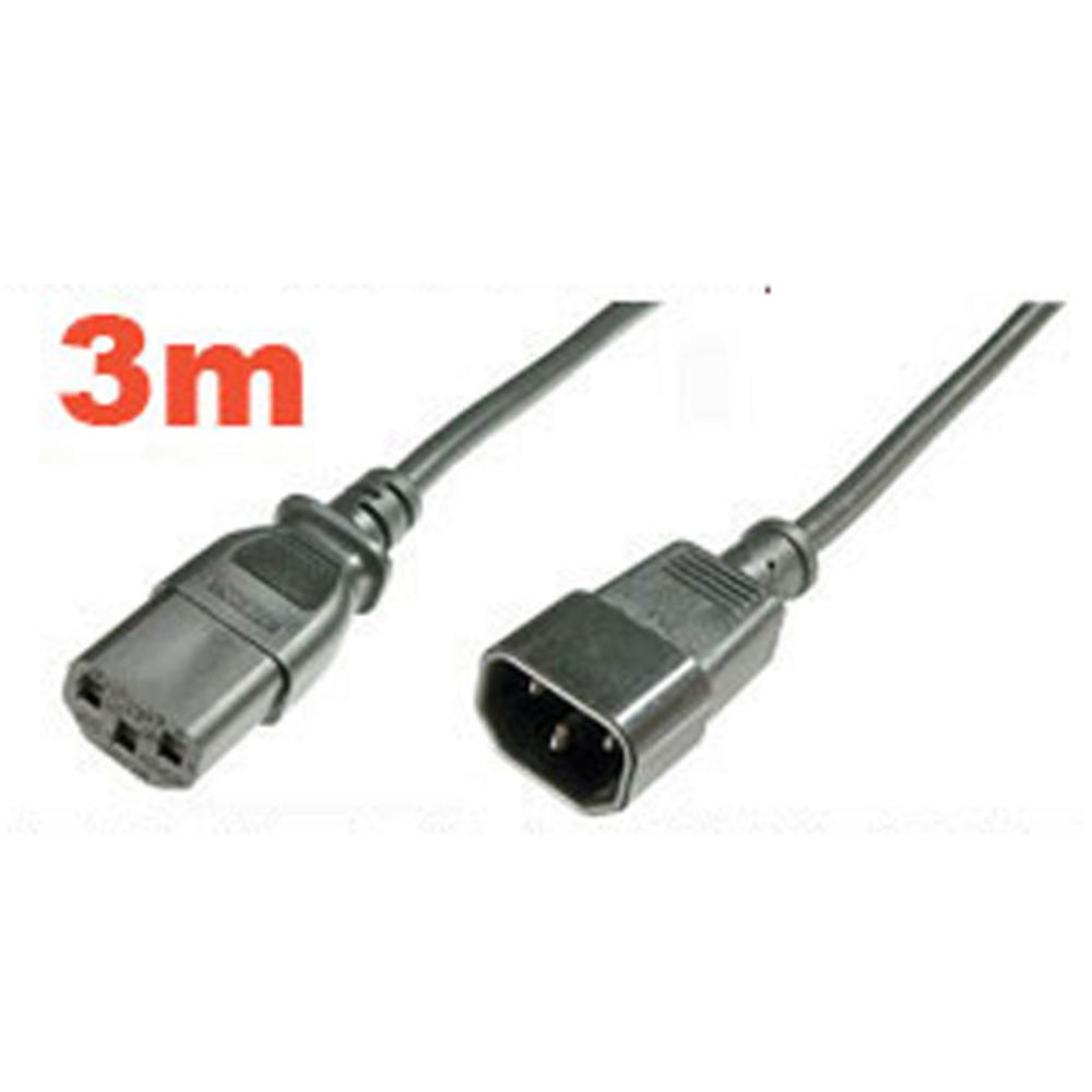 IEC Mains Power Kettle 3m PC EXTENSION Lead Cable UK