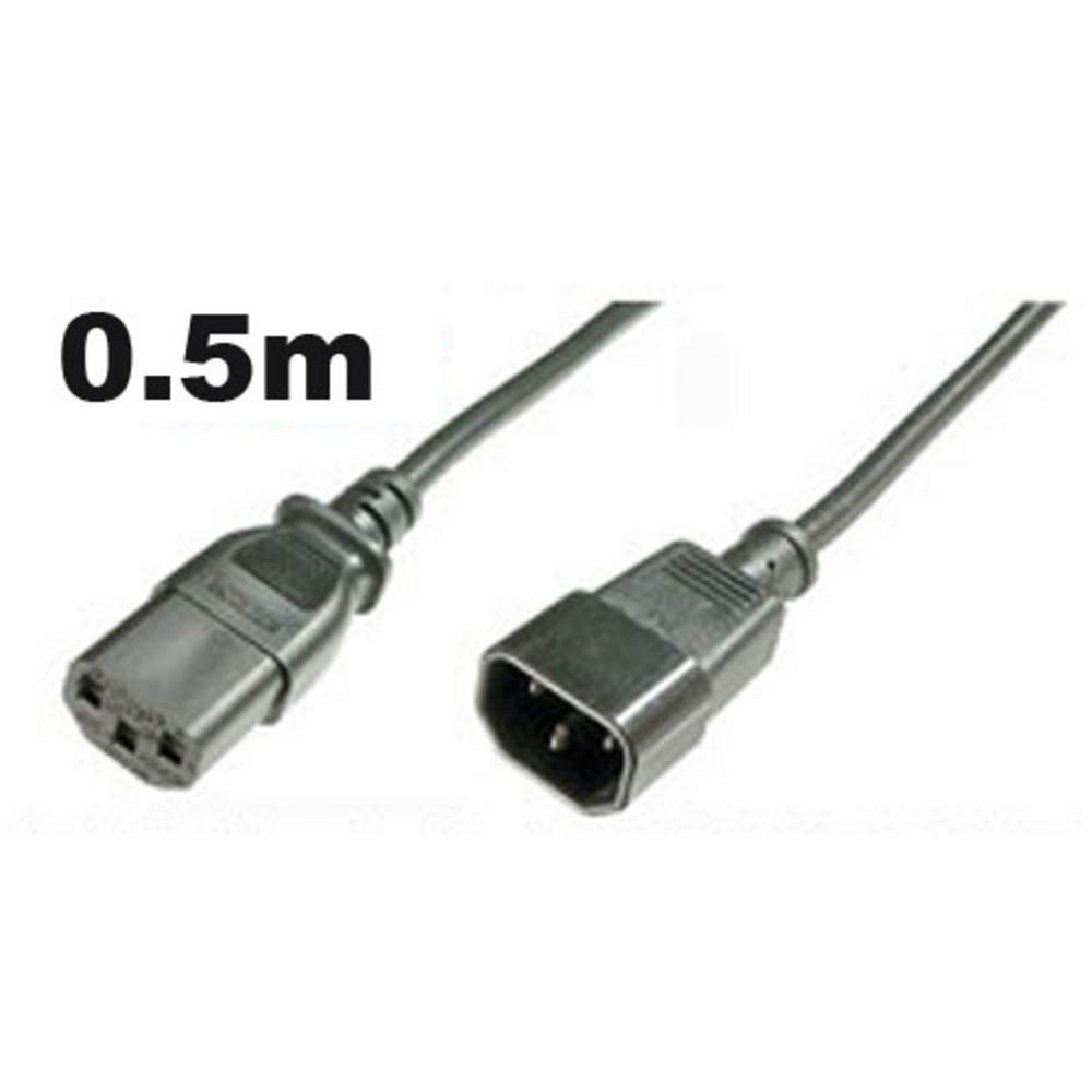 IEC Mains Power PSU Hot Cold 0.5m EXTENSION Lead Cable UK