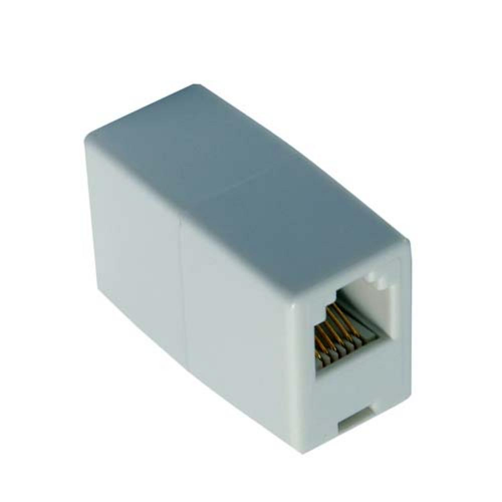 RJ45 White Ethernet Network Cable Female Joiner Coupler UK