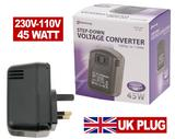 Step Down Voltage Converter 240V - 120V 110v 45VA WATTS UK
