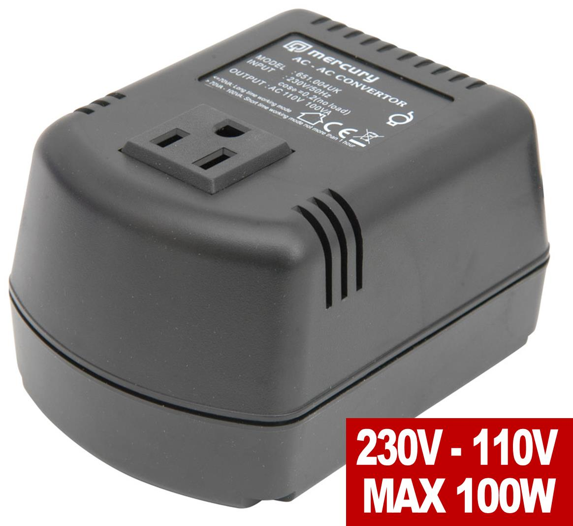 Step Down Voltage Converter 220v to 110v US 100VA 100 Watts UK ...