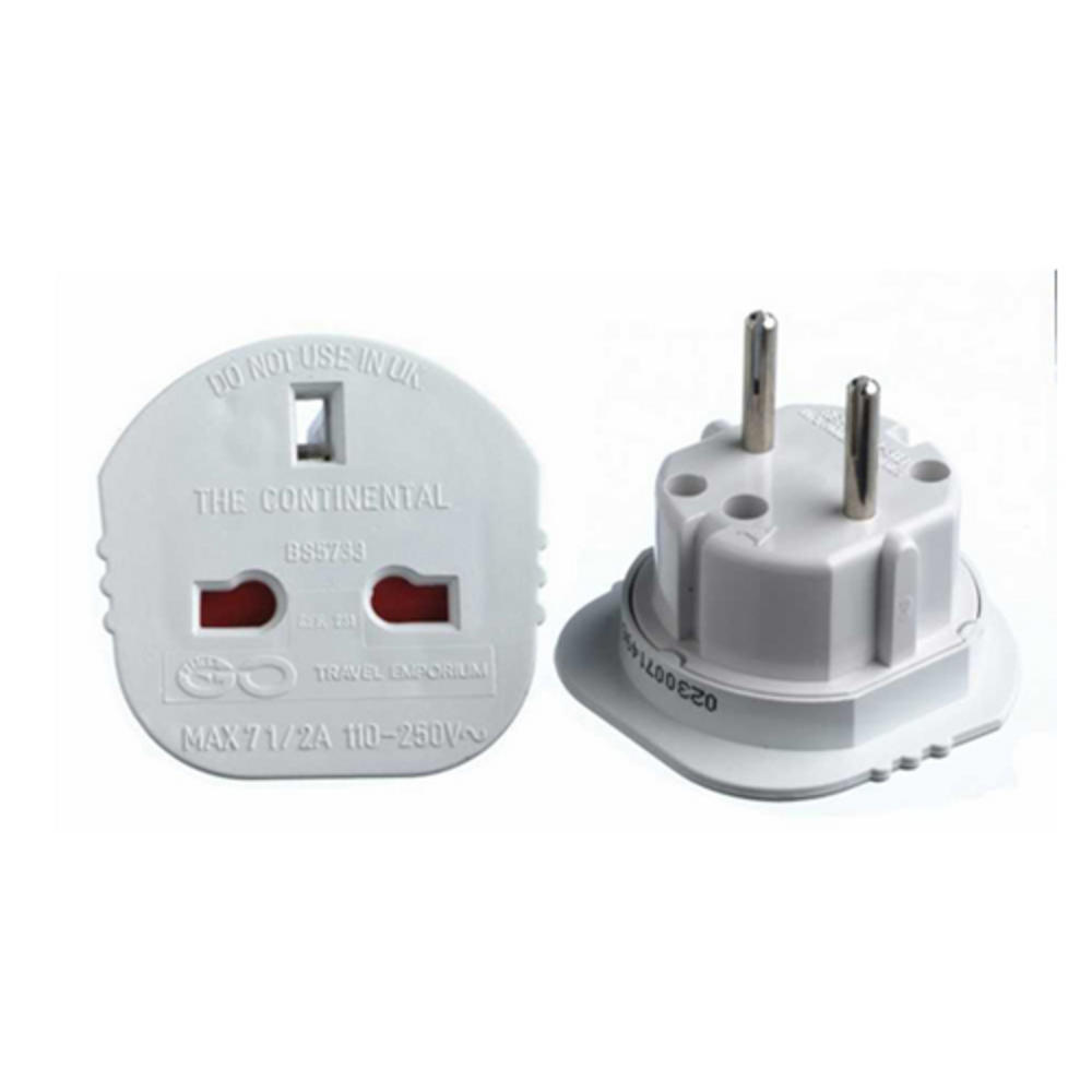 Euro Plug to UK Socket Adapter 110V - 250V - Use UK Appliances in EU UK