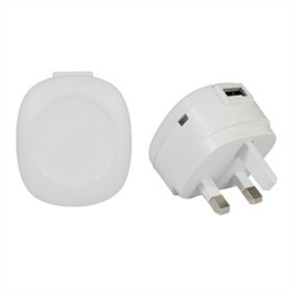 1 AMP 5V DC USB MAINS CHARGER / POWER SUPPLY - WHITE