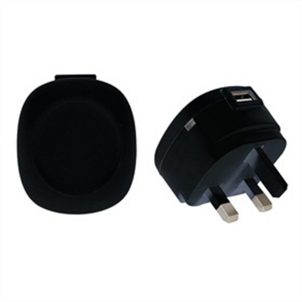 1 AMP 5V DC USB MAINS CHARGER / POWER SUPPLY - BLACK