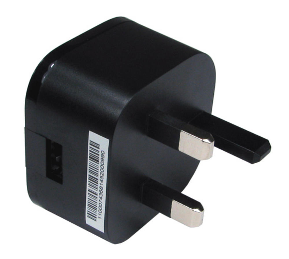 2.1 AMP 5V DC USB MAINS CHARGER / POWER SUPPLY - BLACK