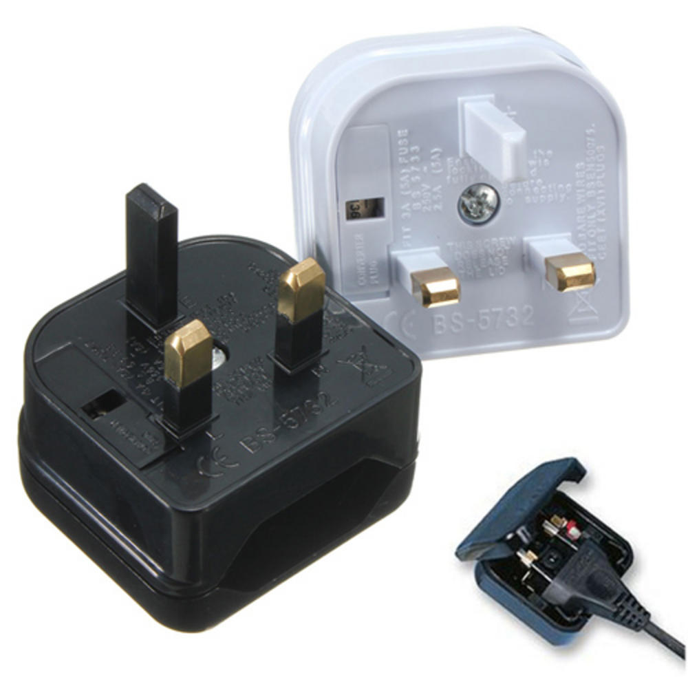 EURO PLUG MAINS LEAD - UK PLUG CONVERTER