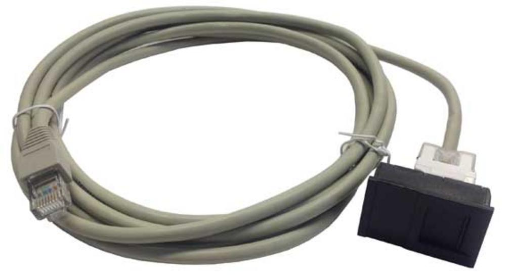 6C FACE PLATE MODULE - CAT 6 WITH 3M LEAD