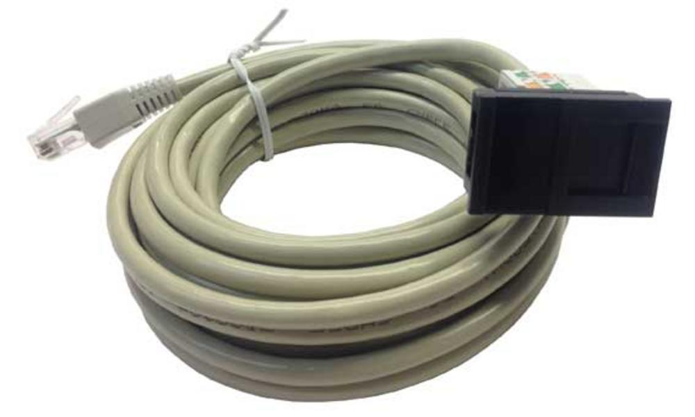6C FACE PLATE MODULE - CAT 6 WITH 5M LEAD