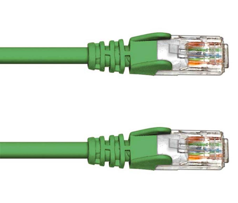 0.5M CAT 5e UTP PATCH CABLE- GREEN