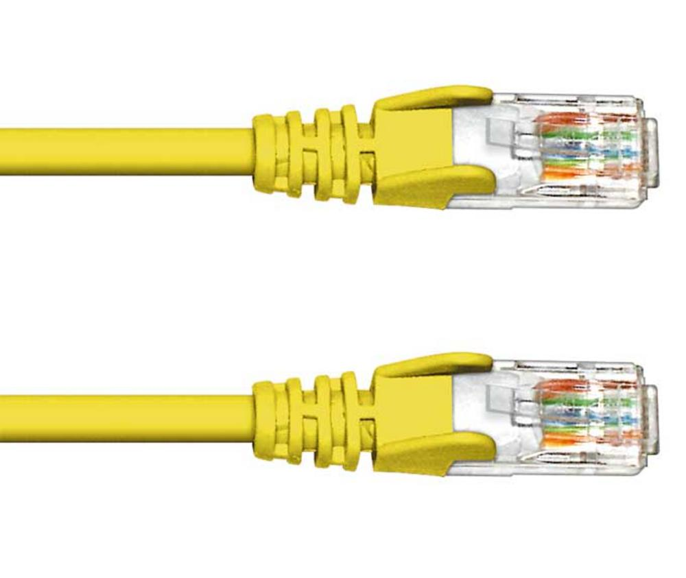 0.5M CAT 5e UTP PATCH CABLE- YELLOW