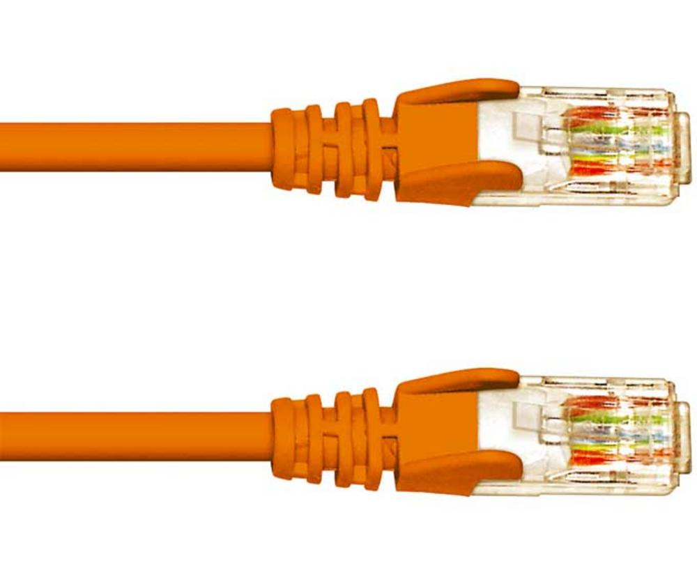 0.5M CAT 5e UTP PATCH CABLE- ORANGE